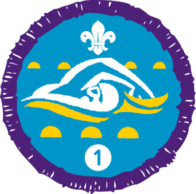 Swimmer Staged Activity Badge